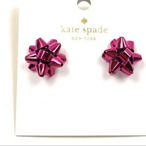 Kate Spade Pink Bourgeois Bow Earrings